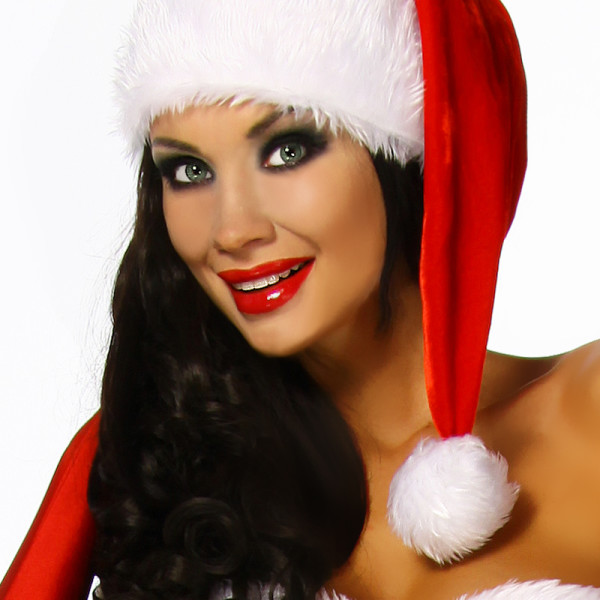 12322 Rosso Natale Cappello Babbo Donna Da Bianco iPXkOZuT