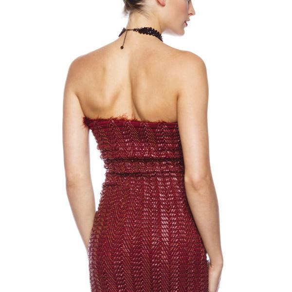 the latest 41032 3c562 Mini vestitino scollato vestito tubino rosso-13514